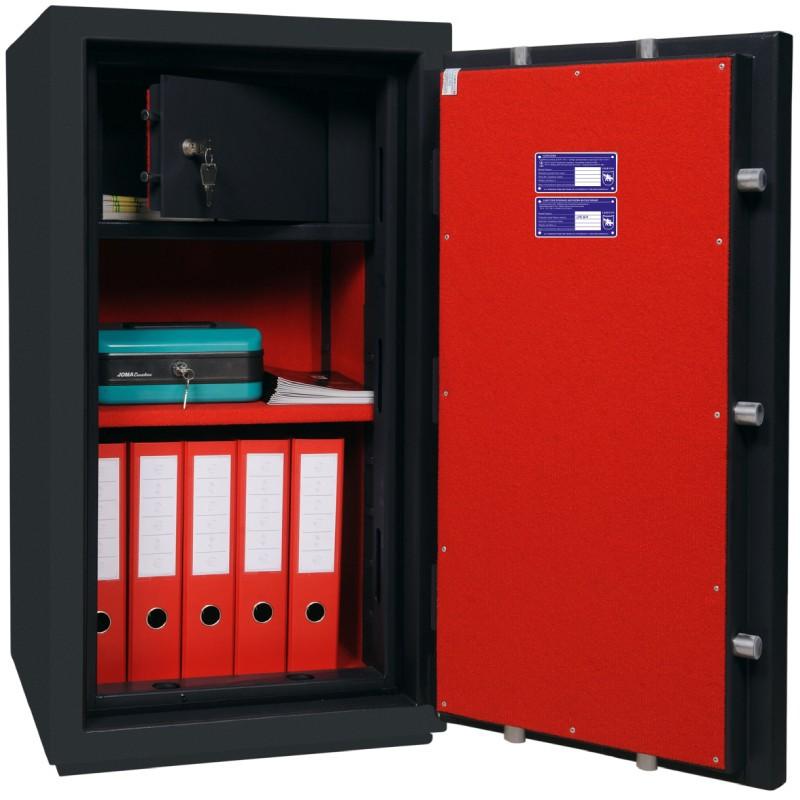 Fire and Burglar resistant safe BASTER CL. III.90 KL+EL GRAFIT