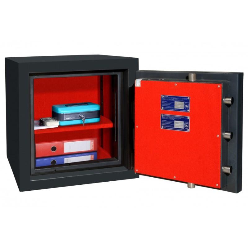 Fire and Burglar resistant safe BOSS CL.II.50 EL + KL GRAFIT